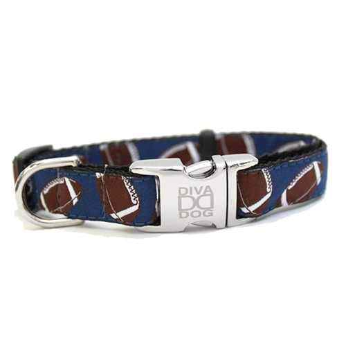 Football Dog Collar by Diva Dog