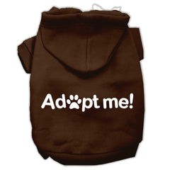 Adopt Me Screen Print Pet Hoodies Brown Size Lg (14)