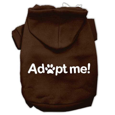 Adopt Me Screen Print Pet Hoodies Brown Size Med (12)