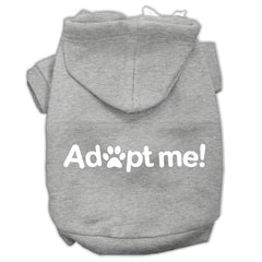 Adopt Me Screen Print Pet Hoodies Grey Size Sm (10)