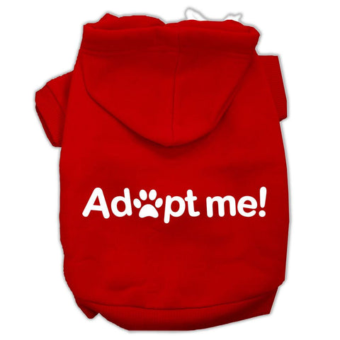 Adopt Me Screen Print Pet Hoodies Red Size Sm (10)