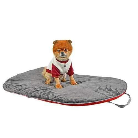 Sierra Folding Dog Blanket By Puppia Life - Red