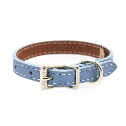 Tuscan Leather Dog Collar by Auburn Leather - Light Blue