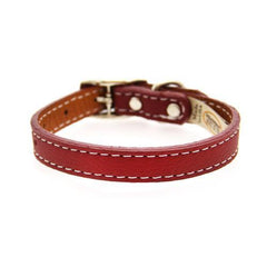 Tuscan Leather Dog Collar by Auburn Leather - Red