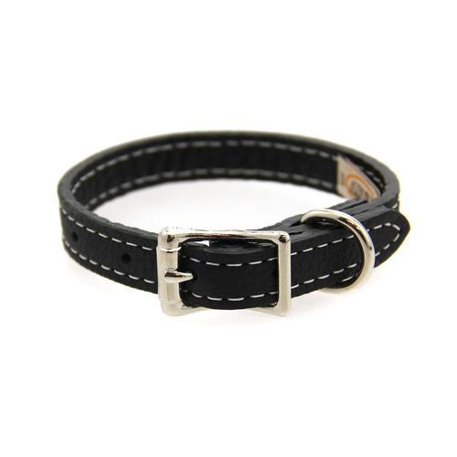 Tuscan Leather Dog Collar by Auburn Leather - Black