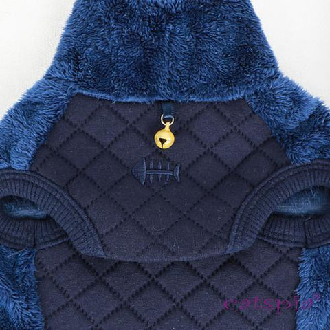 Castor Cat Sweater by Catspia - Navy