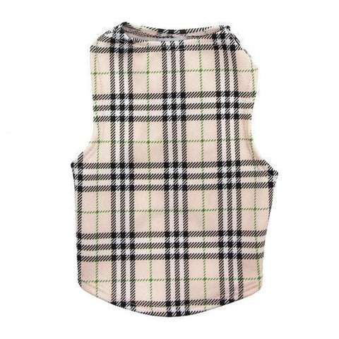 Under-Wrapper Plaid Dog Tank by Daisy and Lucy