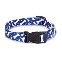 Casual Canine Pooch Pattern Dog Collar - Blue Bone