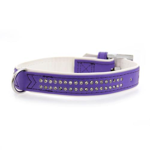 Sparkle Gemstone Dog Collar - Ultra Violet