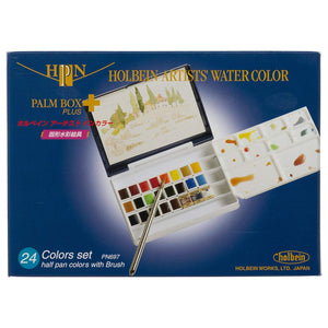 **PRE-ORDER** Holbein Artist's Watercolour Palm Box Plus (24 half pans)