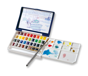 **PRE-ORDER** Holbein Artist's Watercolour Palm Box Plus (36 half pans)