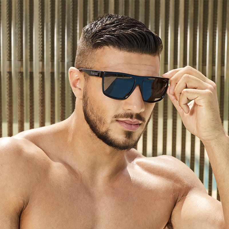 sunglasses on model