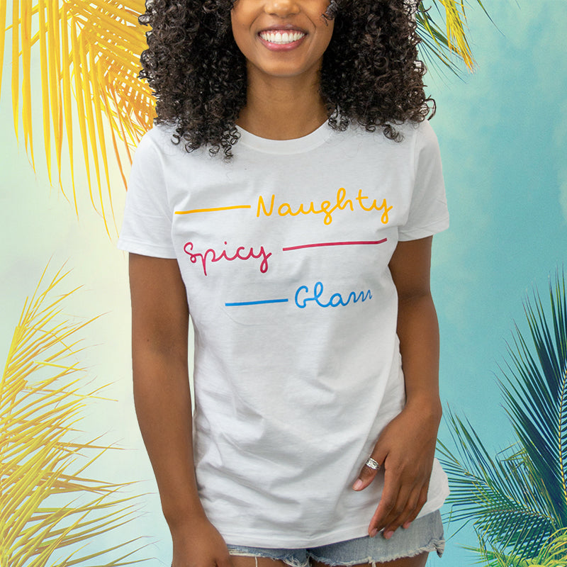 "Official ""Naughty, Spicy, Glam"" Love Island T-Shirt"