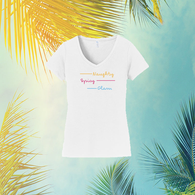 "Official ""Naughty, Spicy, Glam"" Love Island V-Neck"