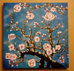 Almond Blossoms painting by Dana Hassard