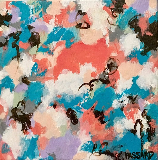 Arise abstract painting by Dana Hassard