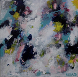 Awake abstract painting by Dana Hassard