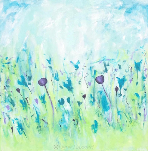 In the Garden abstract painting by Dana Hassard