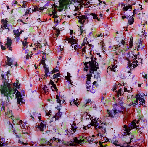 Unexpected Happiness abstract painting by Dana Hassard