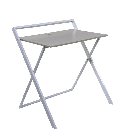 No Assembly Folding Desk with Dual USB (2 color options)