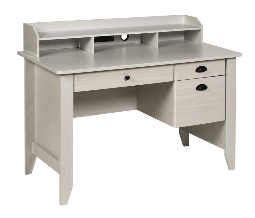 Eleanor Executive Desk, White Oak (50-1617WO)