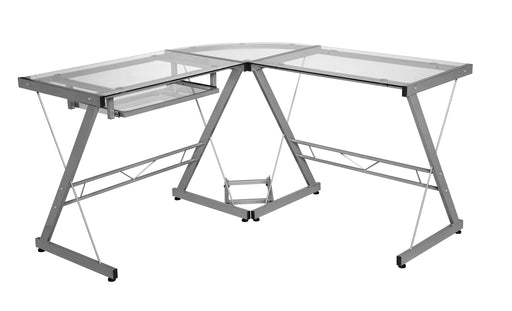 Ultramodern Glass L-Shaped Desk (3 color options)