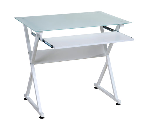 OneSpace Basics Modern Glass Computer Desk
