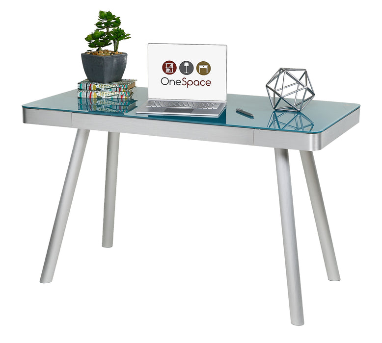 Aevis Easy Assembly Writing Desk, Cool Blue (50-JN1407)