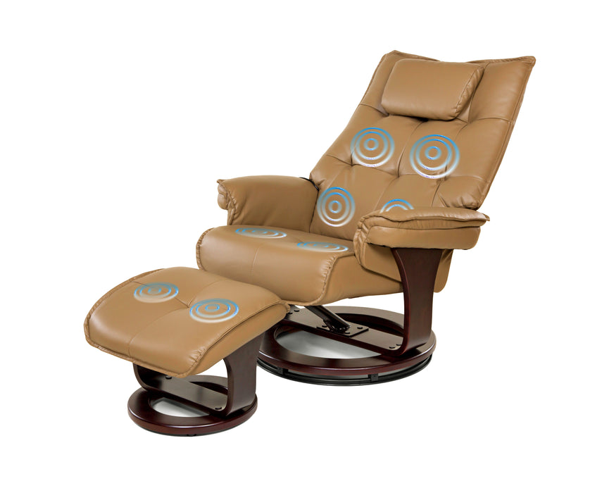 Leisure 8-Motor Massage Recliner (Beige, Mocha, or Black)