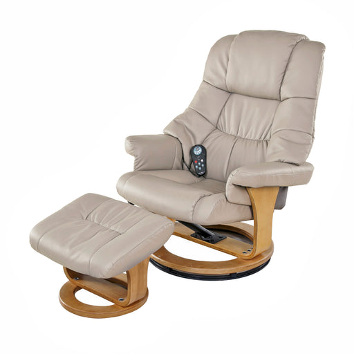 Massage Recliner with Heat and Ottoman (Beige or Camouflage)