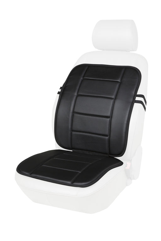 Faux Leather Full Seat Cushion (Black or Beige)
