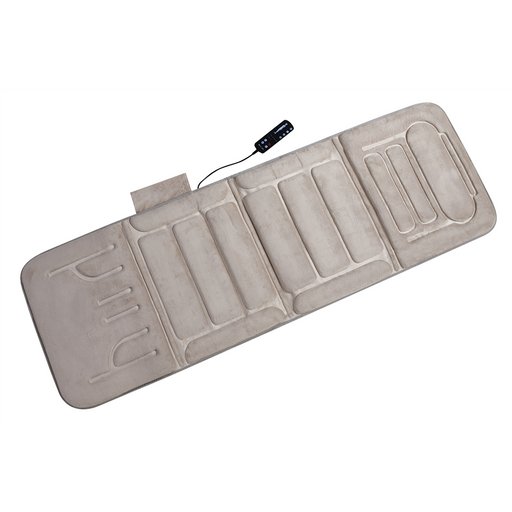 10-Motor Massage Plush Mat with Heat, Beige (60-2907P08X)