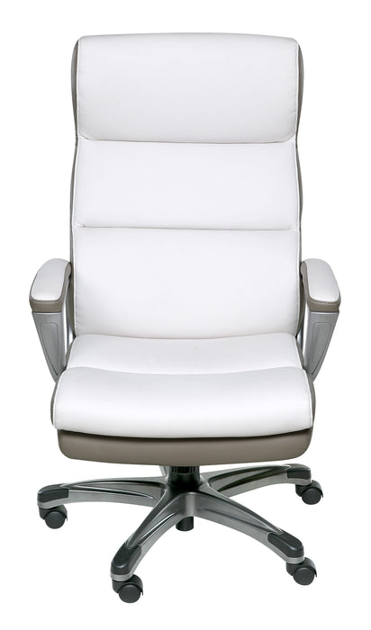 Roosevelt High Back Two-Tone Executive Chair (Black or White)