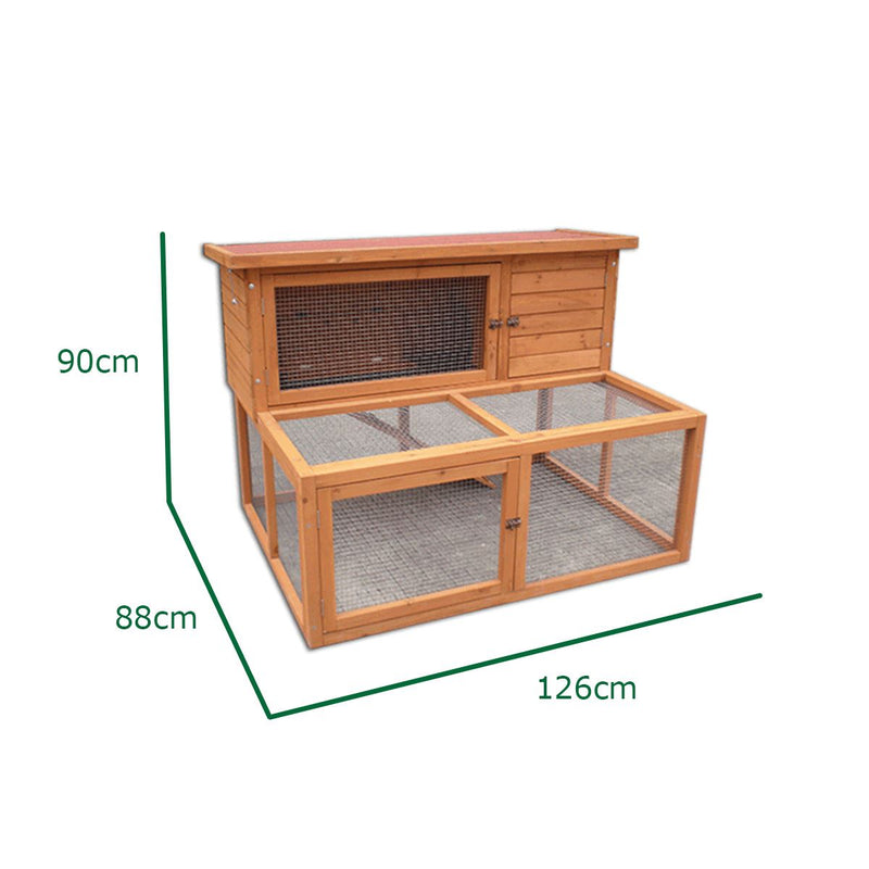 KCT Ancona 4ft Rabbit Hutch with extended Run