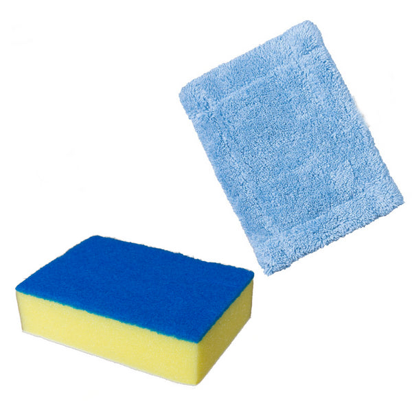 KCT Telescopic Cleaner Accessory Pack - 1 x Scourer/Sponge + 1 Cloth