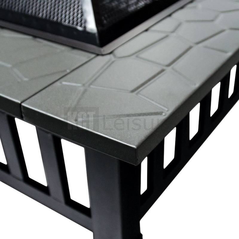 KCT Square Fire Pit with Cover