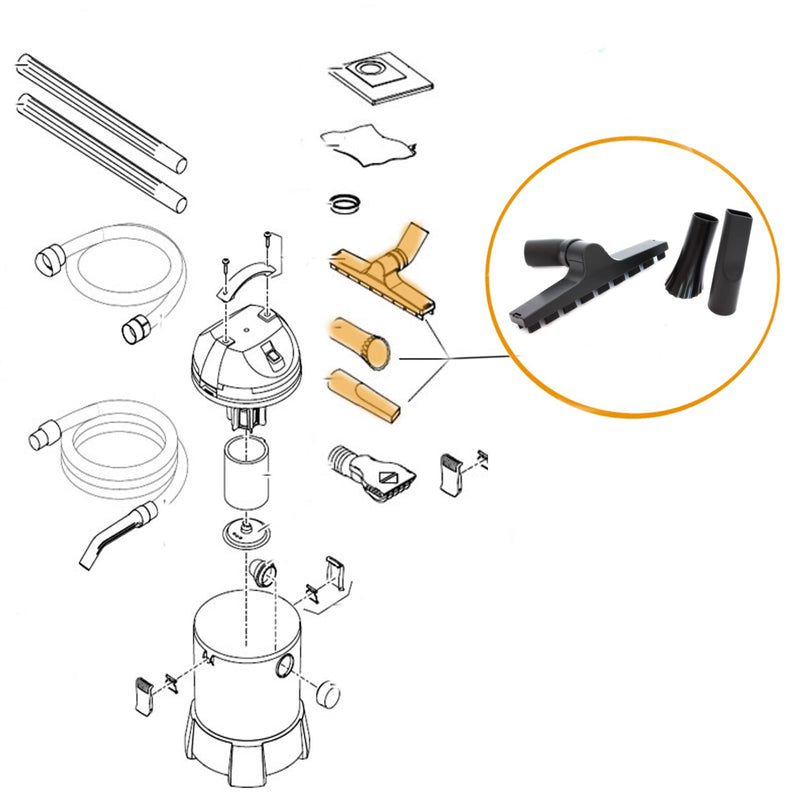 Oase Pontec- Part - 47013 Replacement Nozzle Set For PondoMatic/PondoVac