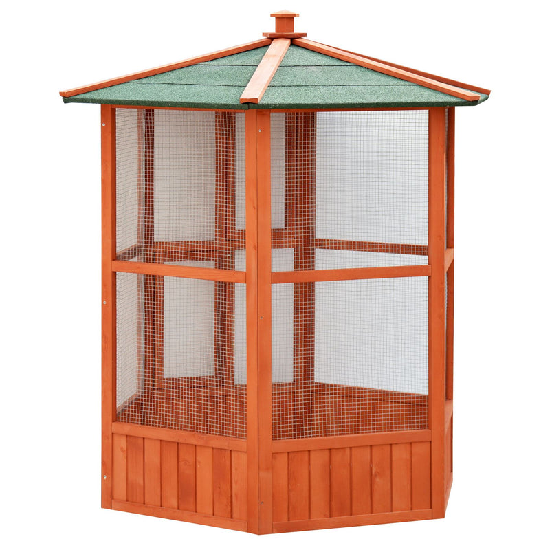 KCT Brazil Outdoor Wooden Bird Aviary