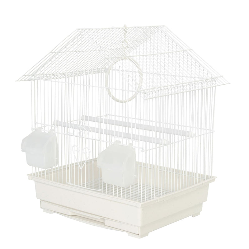 KCT Lima Small Exotic Bird Travel Cage - White