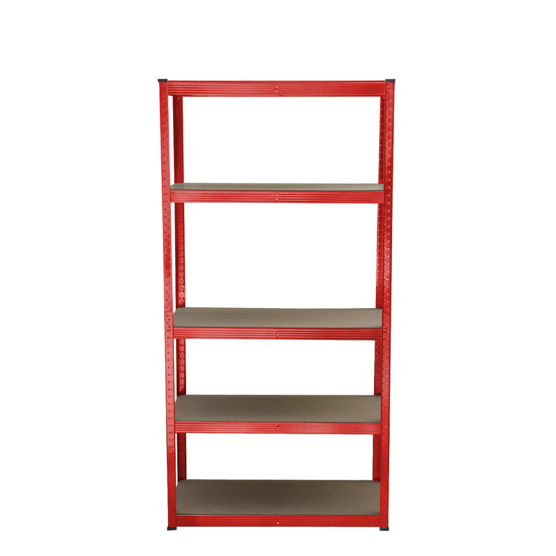 5 Tier Red Shelving Unit
