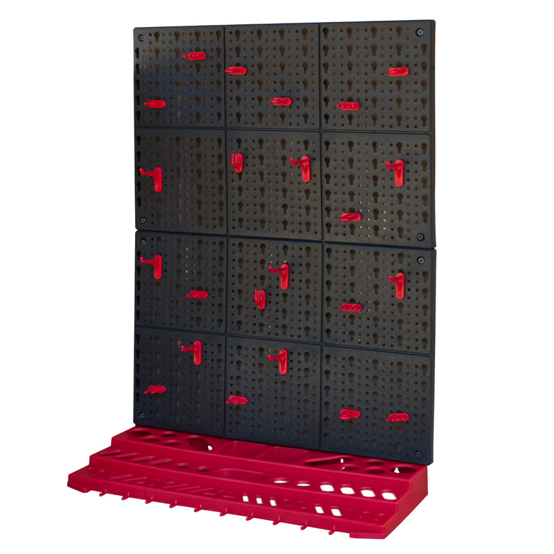 KCT Wall Mounted Tool Rack With Shelves