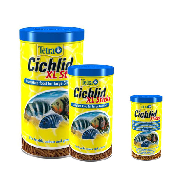 Tetra Aquarium Cichlid Sticks and XL Sticks Fish Food