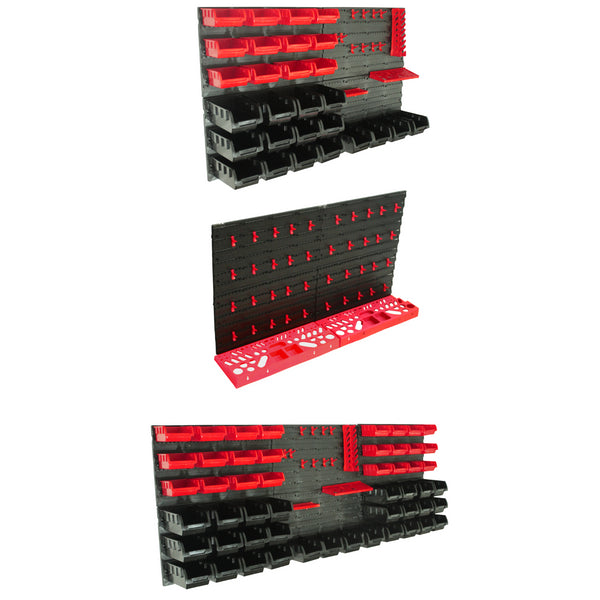 KCT Wall Mounted Tool Rack Organiser with Bins