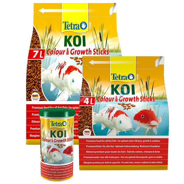 Tetra Pond Koi Colour & Growth Sticks Pond Fish Food