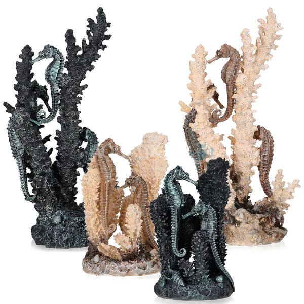Oase biOrb Seahorses on Coral Aquarium Ornaments