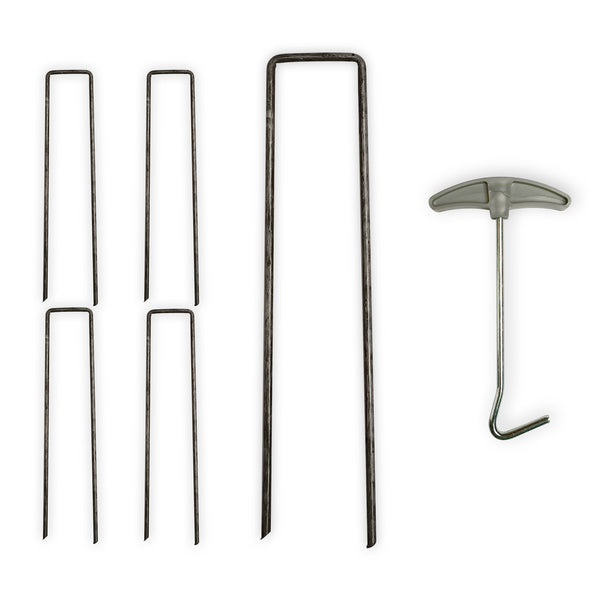 U Shape Garden Ground Stakes With Peg Puller