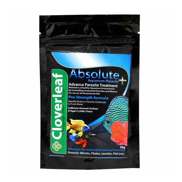 Cloverleaf Absolute + Aquarium Parasite Fish Treatment
