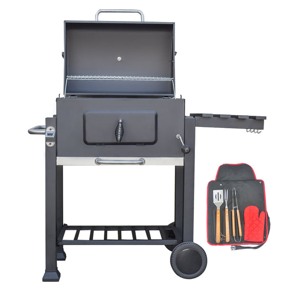 KCT Deluxe Charcoal BBQ Grill with Tool Set