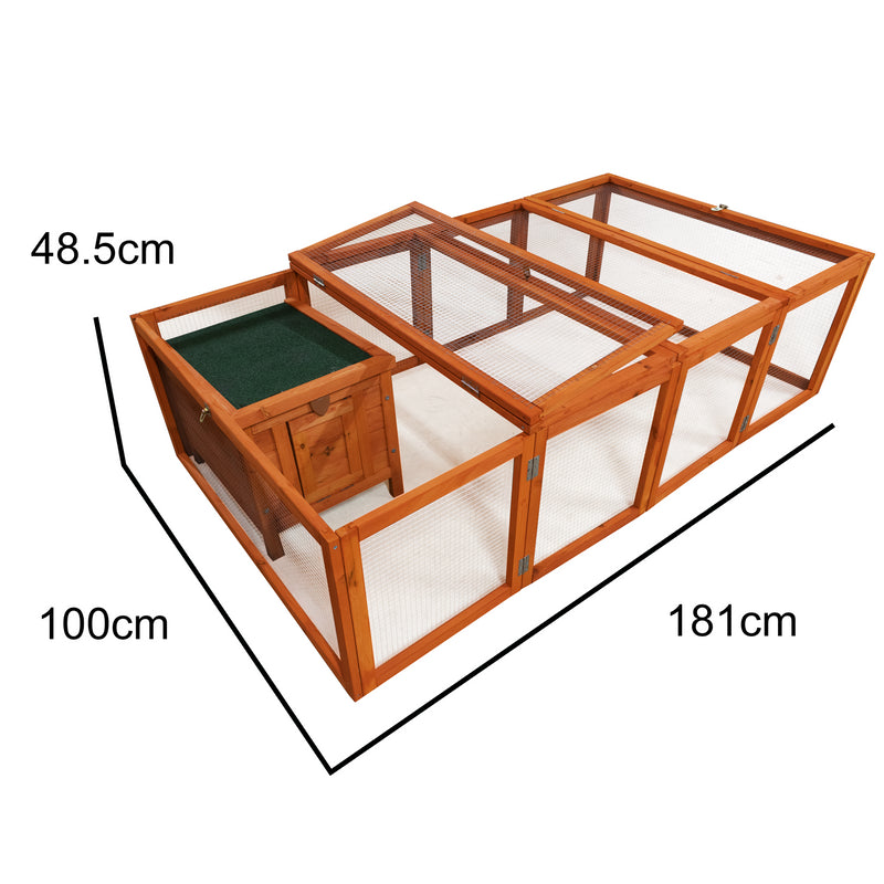KCT 6ft Wooden Pet Run With Asti Box/Hutch