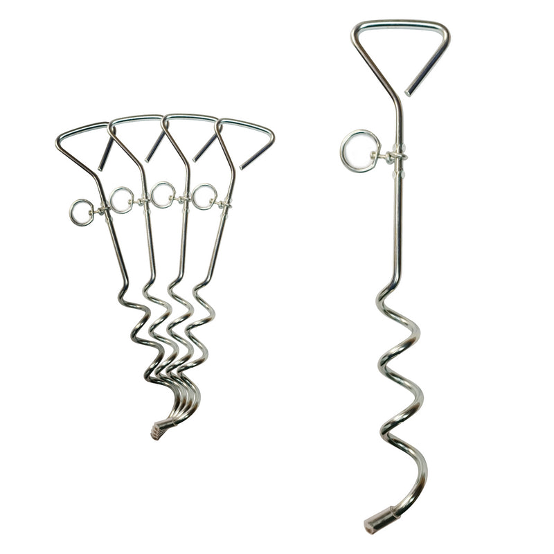 Large Galvanised Steel Corkscrew Tent Peg